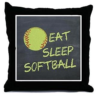CafePress - Eat, Sleep, Softball - Throw Pillow