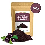 Organic Açai Berries Powder [Freeze - Dried] 200g | 100% Pure Brazilian Acai berry, Lyophilised, Raw and Extract from Acai Berry Pulp | Super-food Rich in Antioxidants and Vitamins | Vegan & Vegetarian Friendly | High Grade Premium Quality Ideal for desse