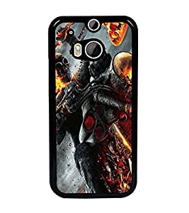 PrintDhaba Ghost Rider D-2172 Back Case Cover for HTC ONE M8 EYE (Multi-Coloured)