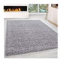 Shaggy Rug Long Pile Carpet Single Color different colors and sizes - Lightgrey, 300x400 cm