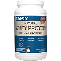 MRM - All Natural Whey Protein Powder, With Essential Amino Acids, BCAAs & Glutamine for Maximum Muscle Growth & Development (Rich Vanilla, 2lb)