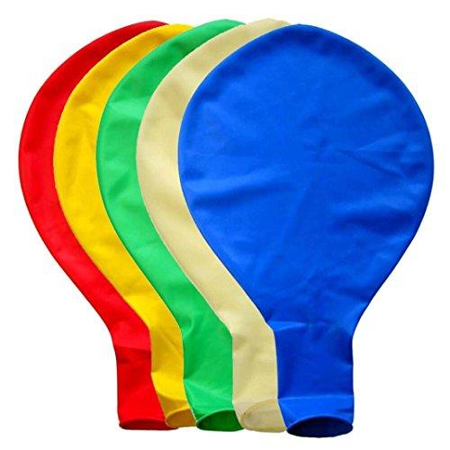 BZLine Großer riesiger Ovaler Großer Latex-Ballon, 5 Stück 36 Zoll 90cm Perle Latex Luftballons für Party Luftballons Spielzeug für Kinder Hochzeit Party Festival Dekoration (Mehrfarbig)