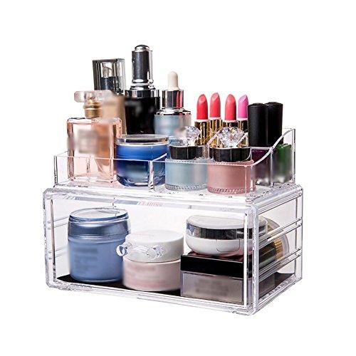CJC Make-Up Taschen Etuis Lager Box Transparent Acryl Desktop Lager Box Dressing Schreibtisch Lippenstift Schutz Haut Produkt Lager Aussortieren Box ( Farbe : T1 ) - Stiftung Tasche