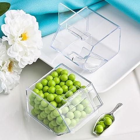 6 X de plástico regalos dulces de almacenamiento de contenedores Bin y la cucharada de boda y favores de partido