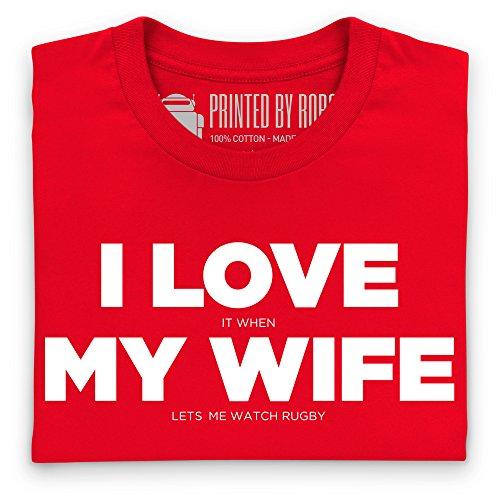 I Love My Wife T-Shirt, Damen Rot