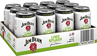 jim beam lime splash bourbon whiskey mix dose 12 x l bier wein spirituosen. Black Bedroom Furniture Sets. Home Design Ideas