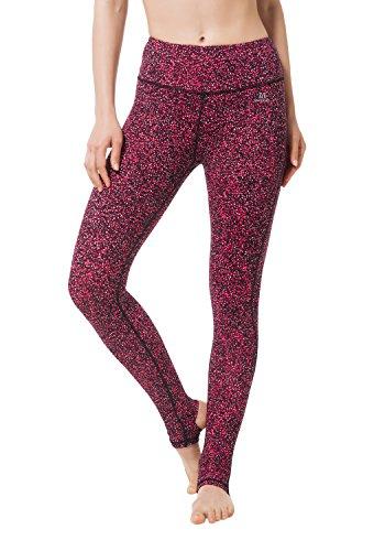 Matymats Damen-Steghose, für Yoga, Ballett, Laufen, Tanzen, Pilates, mit hoher Taille xl Floral Red