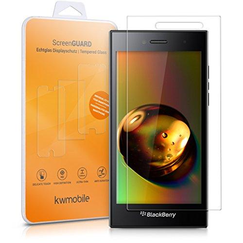 kwmobile BlackBerry Leap Folie - Glas Handy Schutzfolie für BlackBerry Leap - Full Screen Display Schutz