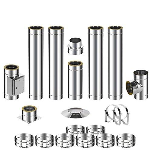 ADT Diamantwerkzeuge GmbH Kit de montage pour cheminée en acier inoxydable DW 150 5,7m 0,5