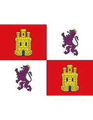 7242425534f09 Grand Bandera de Castilla y Leon 150 90 cm Satén Durabol .