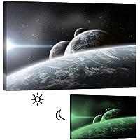 Cuadro en Lienzo Startoshop, fotoluminiscente Lienzo,Pinturas murales, Decoración, Varias Planeta, Categoría Cosmos, 60 cm x 90 cm