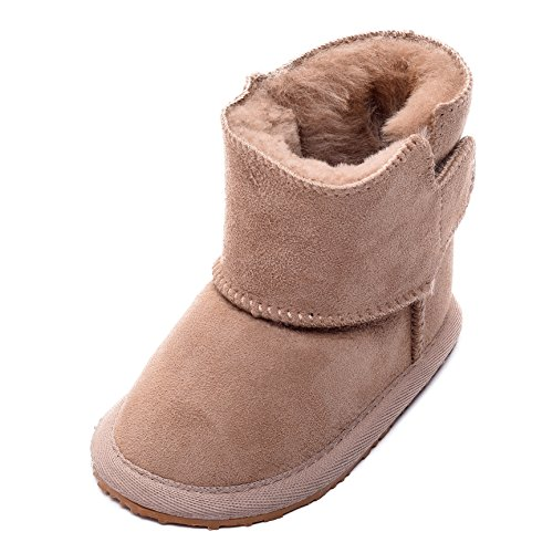Lambland Childrens/Babies Super Soft Genuine Real Sheepskin Booties with Ripper Tab