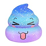 YUYOUG Clearance! Soft Cute Fun Galaxy Poo Emoji Scented Slow Rising Jumbo Squishy Toys Decompression Toys Stress Relief Toys Christmas Birthday Gift for Kids Adults (B)