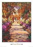 1art1 35850 Claude Monet - Il Viale Del Giardino Poster Kunstdruck 70 x 50 cm