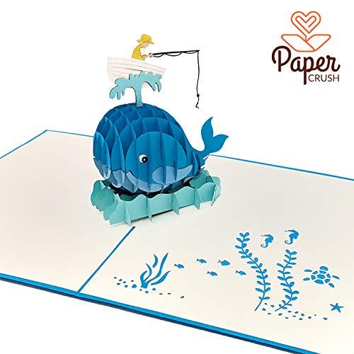 PaperCrush® Pop-Up Karte Angeln - 3D Geburtstagskarte als lustige Geschenkidee für Angler - Angelkarte, Angelgutschein, Anglergeschenk