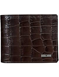 Urban Forest Rhaegal RFID Blocking Croco Print Brown Leather Wallet for Men