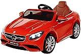 Actionbikes Motors Kinder Elektroauto Mercedes Lizenziert AMG S63 Kinder Elektro Auto Kinderauto Kinderfahrzeug Spielzeug für Kinder (rot)