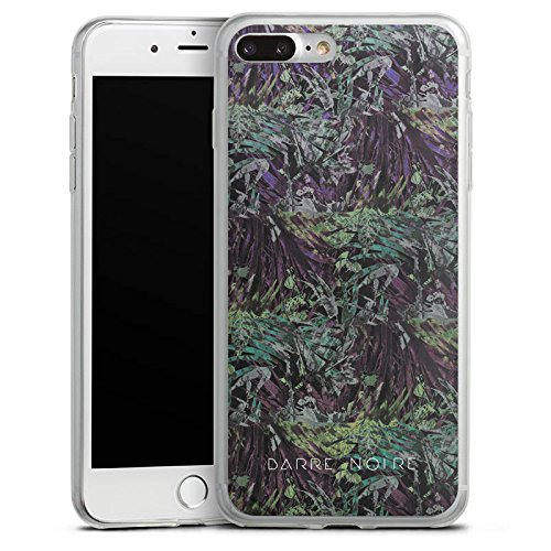 Apple iPhone 8 Slim Case Silikon Hülle Schutzhülle BARRE NOIRE Blumen dschungel Silikon Slim Case transparent