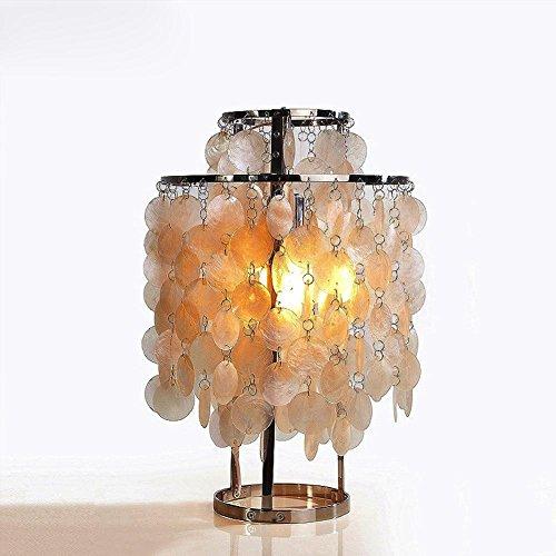 OOFWY E27 Shell Tischlampe Modern Kreativ für Hotel Schlafzimmer Wohnzimmer Bedside Dekoration Anhänger Cameo Shells Schreibtisch Lampen Höhe 55CM - Cameo Lampe