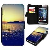 Book Style Huawei Ascend P7 Mini Premium PU-Leder Tasche Flip Brieftasche Handy Hülle mit Kartenfächer für Huawei Ascend P7 Mini - Design Flip SV121