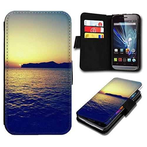 Book Style Wiko Getaway Premium PU-Leder Tasche Flip Brieftasche Handy Hülle mit Kartenfächer für Wiko Getaway - Design Flip SV121