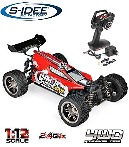 s-idee® 18149 12401 RC Auto 1:12 4WD Buggy mit 2,4 GHz ca. 50 kmh schnell wendig voll proportional 4WD ferngesteuertes Buggy Racing Auto