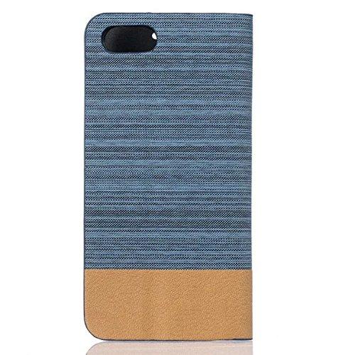 iPhone Case Cover Mixed Canvas Canvas Collection Case Premium PU Leather Case Portefeuille Stand Flip Stand Shell de protection pour IPhone 7 Plus 5.5 pouces ( Color : 4 , Size : IPhone 7 Plus ) 5