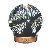 Izzya JS0103 3D 100 Ml Luftbefeuchter 7 Farbwechsel Glasabdeckung Nachtlicht Ätherisches Öl Ultraschall Aromazerstäuber Wasserlose Automatische Abschaltung