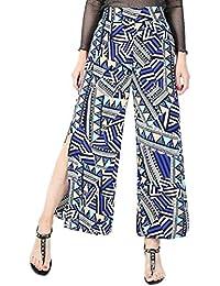 Pantalone Largo da Donna con Larghi Style Ampi Festa Pantaloni Pantaloni A  Gamba Aperta Fantasia Moderna 911ec6ac41a9