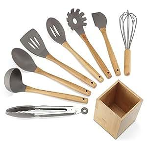 Nexgadget kit d 39 ustensiles de cuisine en silicone 9 pi ces for Accessoires pour la cuisine
