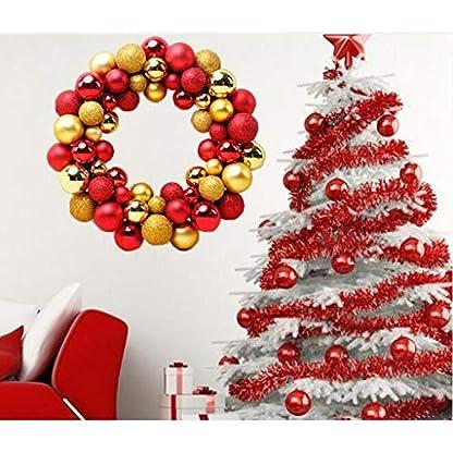 SM-SunniMix-Metallic-Weihnachtskugeln-Kranz-Dekokranz-Baumschmuck-aus-Plastik