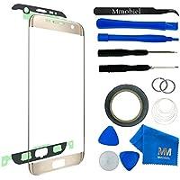 MMOBIEL Kit de Reemplazo de Pantalla Táctil para Samsung Galaxy S7 EDGE G935 (Oro) incluye pantalla de Vidrio / cinta adhesiva de 2 mm / Kit de Herramientas / Limpiador de microfibra / alambre Metálico