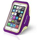 Pour iPhone 66S Étui brassard sport Running Bras de sac pour Samsung S3S4Xiaomi 4Course à Pied Marche d'exercice imperméable à la transpiration de téléphone portable avec sangle de poignet souple également pour d'autres Téléphone portable, Violet