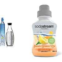 Sodastream Recharge, Pack avec Cylindre de CO2 60 L Supplémentaire, Modèle Original à Visser + 1 Carafe en verre 0.6 L…