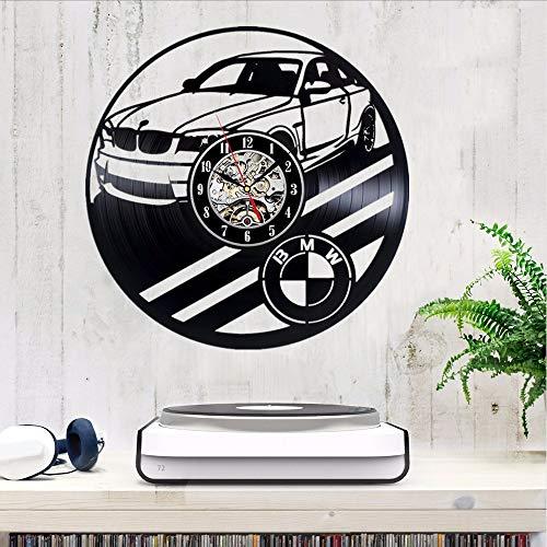 Orologio da parete per auto da vinile BMW Decorate la vostra casa con un regalo di arte moderna per uomini e donne ragazze e ragazzi