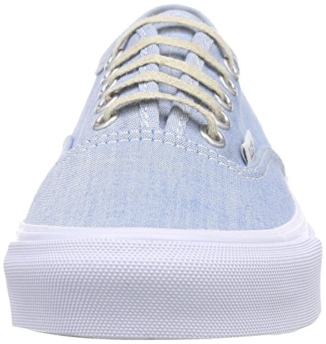 Vans Authentic Slim, Sneakers Basses mixte adulte Bleu (Chambray/Blue/True White)