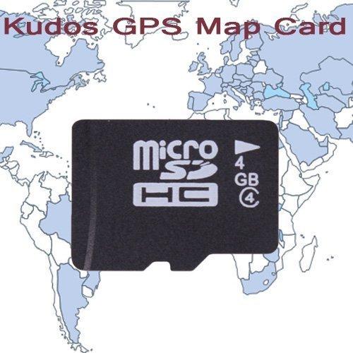 Lightinthebox Western Europe KUDOS Tarjeta de mapas GPS, con 4 GB tarjeta TF para coche reproductor de DVD, rejillas de sistema de navegación