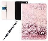 Kompatibel mit iPad 9.7 2017 Hülle,iPad 9.7 2017 Lederhülle,JAWSEU Mädchen Schmetterling Muster Hülle im Bookstyle PU Leder Tasche Schutzhülle Flip Case Smart Case Cover mit Ständer für iPad 9.7 2017