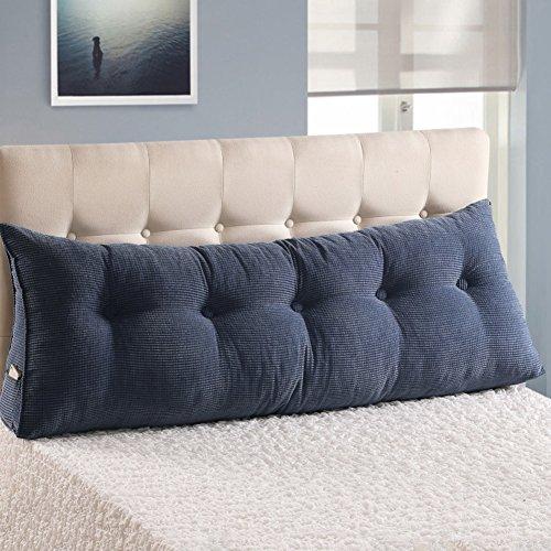 Jiaqi cuscino schienale testiera,pp-cotone b & b resto cuscino,tatami triangolo supporto tre-dimensionale ottimo supporto per la lettura coperchio rimovibile-blu a 200x25x50cm(79x10x20)