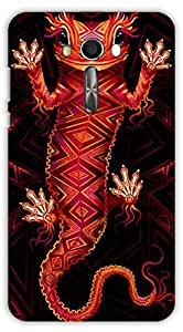 Crazy Objects Man On Fire 3D Design Printed Back Cover For Asus zenfone 2 Laser 601kl