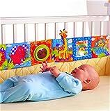 CanVivi Säugling Bettumrandung Bunte Baby Lernspielzeug Kopfschutz Nestchen