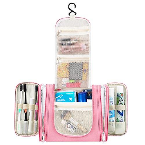 Kulturtasche zum Aufhängen Zuoao Reise Kulturbeutel für Damen, Herren und Kinder, Große Waschtasche Toilettentasche mit vielen Fächern für Reisen, Outdoor, Camping