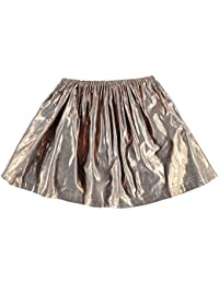 French Connection Ninos Metallic Falda Junior Chicas Cinturilla Elastica Ropa