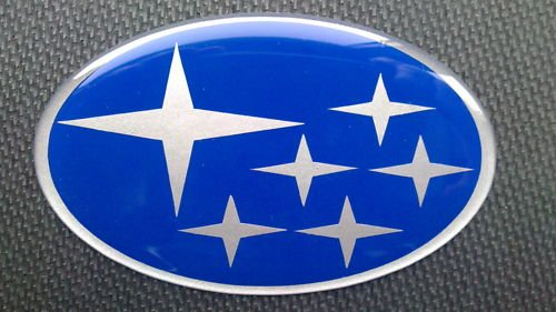 SUBA IMPREZA GRILL BONNET BOOT BADGE BLUE SILVER STARS SUB IMPREZA GRILL BADGE BADGE - Bonnet Badge