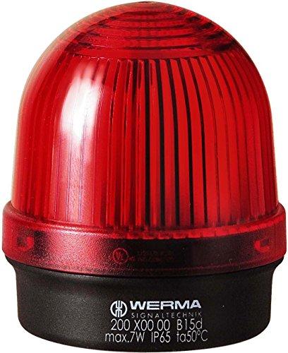 Werma útil Lámpara BM 12–240VAC/DC, Rojo, 20010000