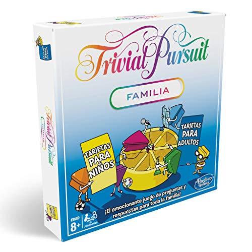 Clásico juego de Trivial Pursuit, en su edición más familiar. El divertido juego de mesa de preguntas y respuestas de siempre, ahora con nuevas preguntas y desafío cara a cara. En su interior encontrarás todos los accesorios para comenzar el juego: 1...