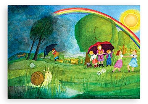 Wandbild von Eva-Maria Ott-Heidmann - REGENBOGEN vom schnurverlag