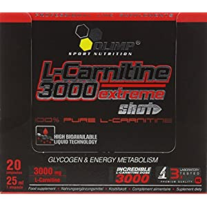 51fxaPzbijL. SS300  - Olimp Orange 25ml L-Carnitine Forte 3000 Extreme Shot - Pack of 20 Shots