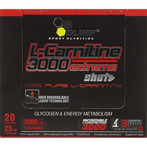 51fxaPzbijL. SS500  - Olimp Orange 25ml L-Carnitine Forte 3000 Extreme Shot - Pack of 20 Shots