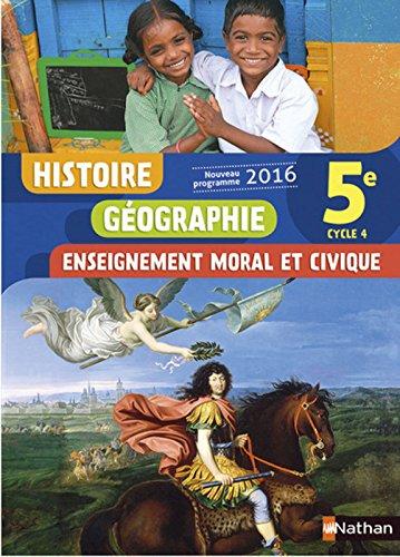 Histoire-Géographie-EMC 5e - Nouveau programme 2016 par Lisa Adamski